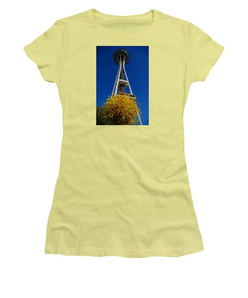 Seattle Space Needle Women's T-Shirt (Athletic Fit)