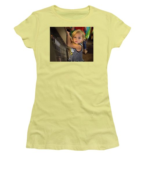 Women's T-Shirt (Junior Cut) featuring the photograph Child In The Light by Bill Pevlor