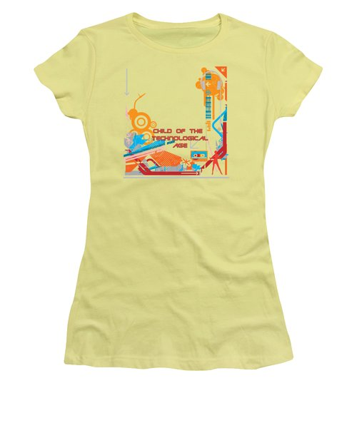 Child Of The Technological Age Women's T-Shirt (Athletic Fit)