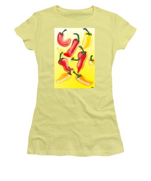 Chiles En El Sol Women's T-Shirt (Athletic Fit)