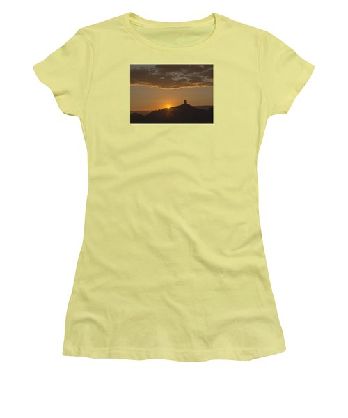 Chimney Rock Sunset Women's T-Shirt (Junior Cut) by Laura Pratt