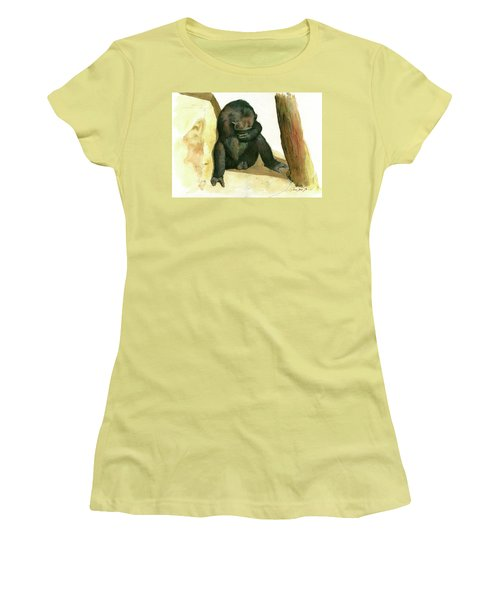 Chimp Women's T-Shirt (Junior Cut) by Juan Bosco