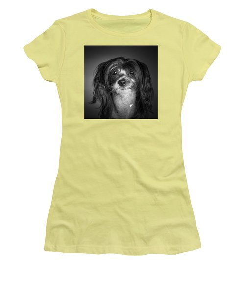 Women's T-Shirt (Junior Cut) featuring the photograph Chinese Crested - 02 by Larry Carr