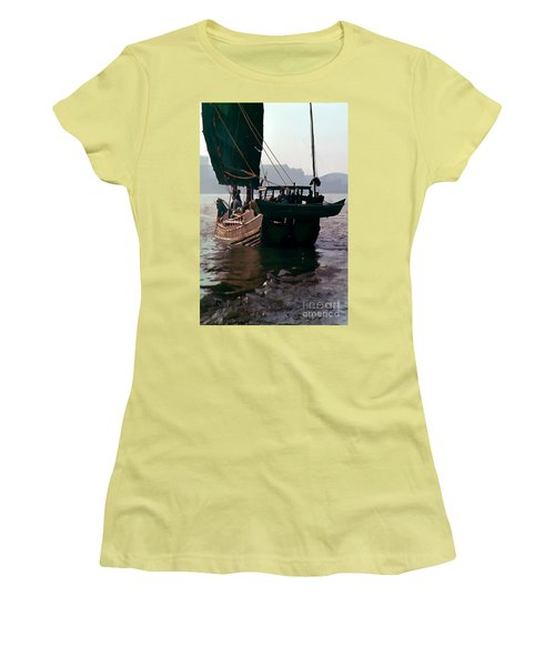 Chinese Junk Afloat In Shanghai Women's T-Shirt (Athletic Fit)