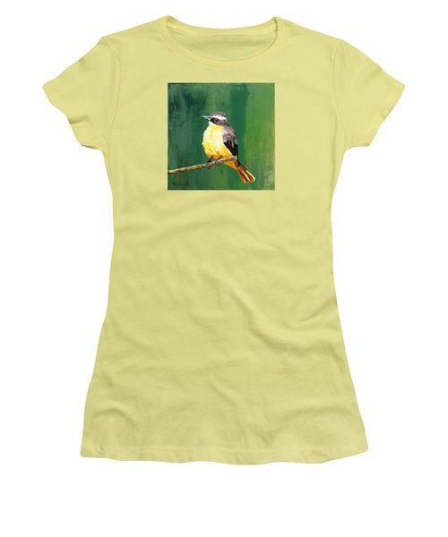 Chirping Charlie Women's T-Shirt (Junior Cut) by Nathan Rhoads