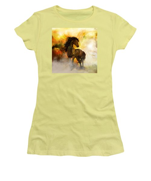 Chitto Black Spirit Horse Women's T-Shirt (Athletic Fit)