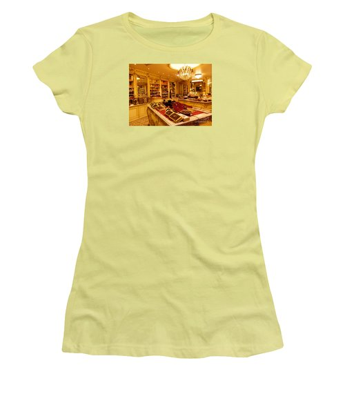Chocolate Shop Women's T-Shirt (Junior Cut) by Margaret Brooks