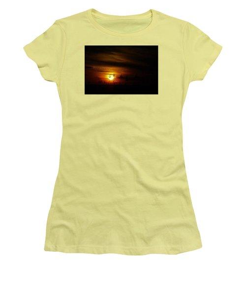 Women's T-Shirt (Junior Cut) featuring the photograph Chocolate  Sunset by John Glass