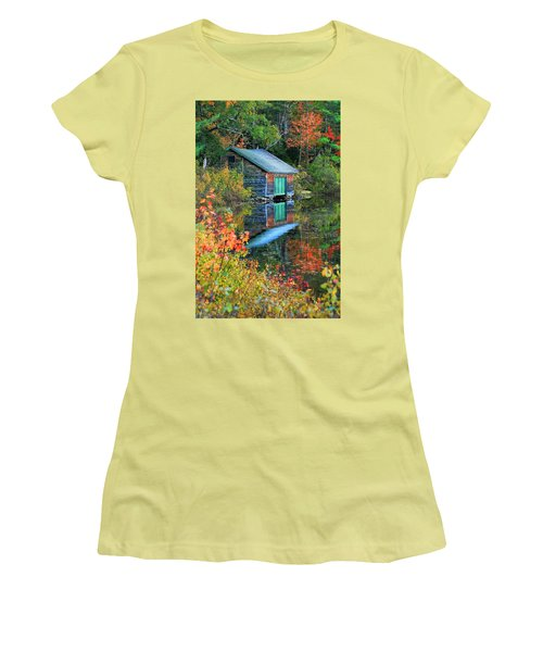 Chocorua Boathouse Women's T-Shirt (Athletic Fit)