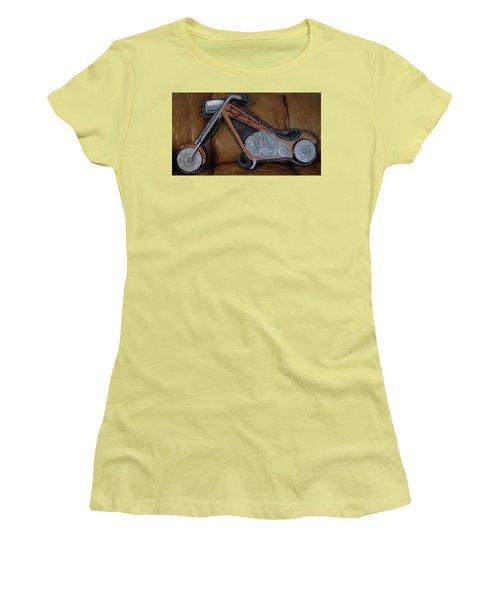 Chopper Women's T-Shirt (Junior Cut) by Val Oconnor