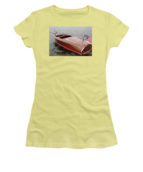 Chris Craft Barrel Back Women's T-Shirt (Athletic Fit)