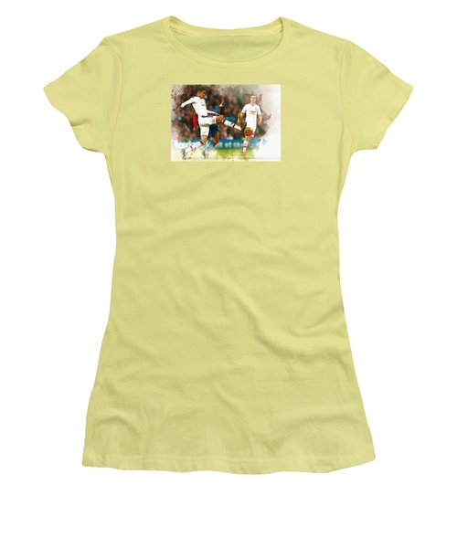 Chris Smalling  In Action  Women's T-Shirt (Athletic Fit)