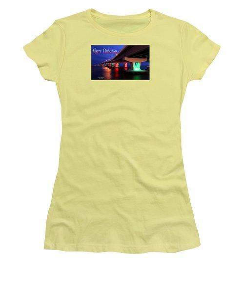 Christmas Bridge Women's T-Shirt (Athletic Fit)