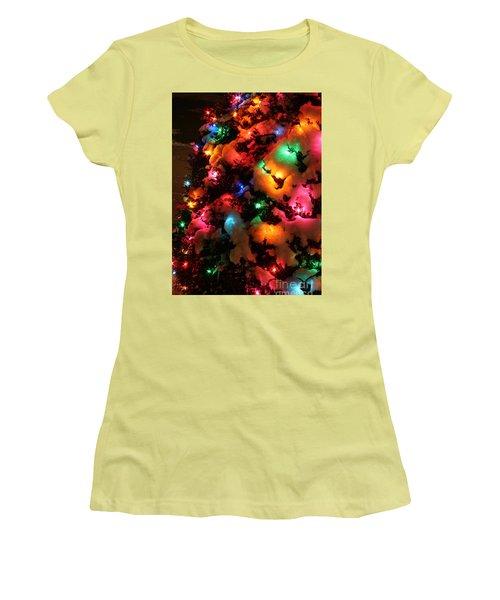 Christmas Lights Coldplay Women's T-Shirt (Junior Cut) by Wayne Moran