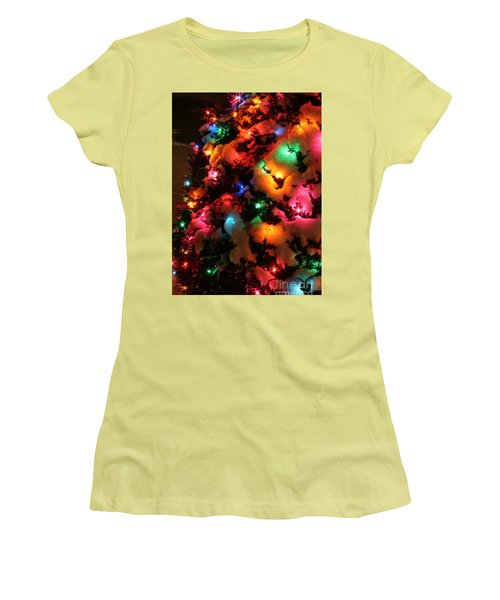 Christmas Lights Coldplay Women's T-Shirt (Athletic Fit)