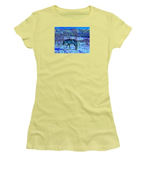 Women's T-Shirt (Junior Cut) featuring the photograph Christmas Roan El Valle IIi by Anastasia Savage Ealy