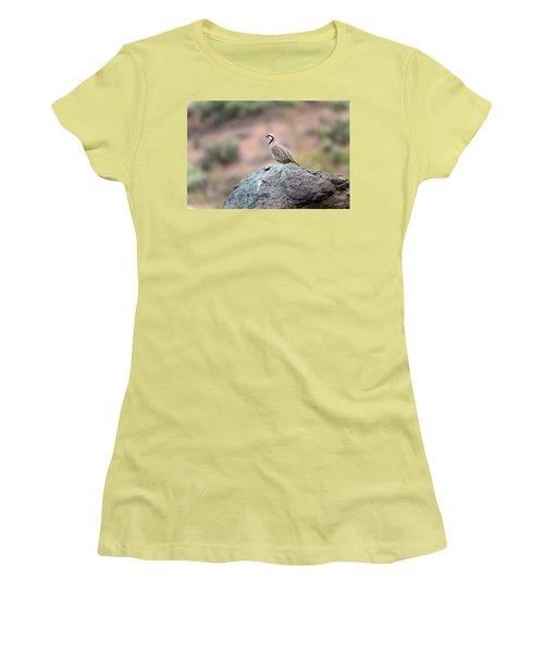 Chukar Partridge 2 Women's T-Shirt (Junior Cut) by Leland D Howard