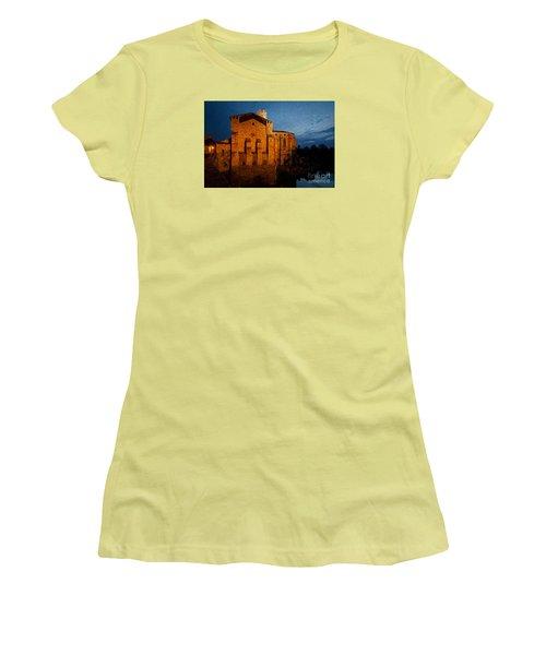 Women's T-Shirt (Junior Cut) featuring the photograph Church 1 by Jean Bernard Roussilhe