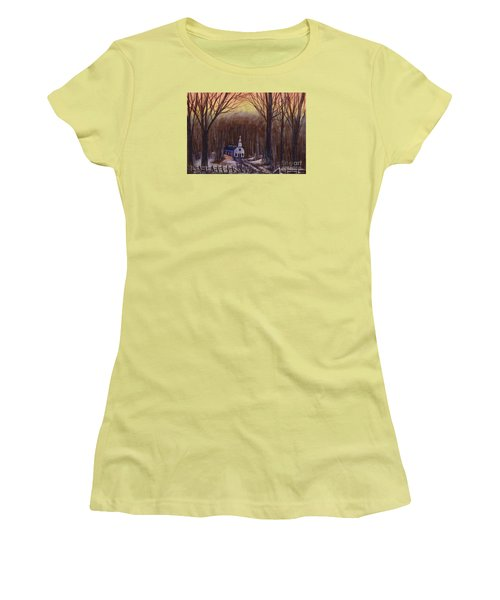 Church In The Woods  Women's T-Shirt (Athletic Fit)