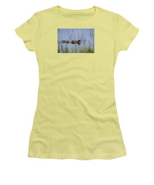 Cinnamon Teal Pair Women's T-Shirt (Athletic Fit)