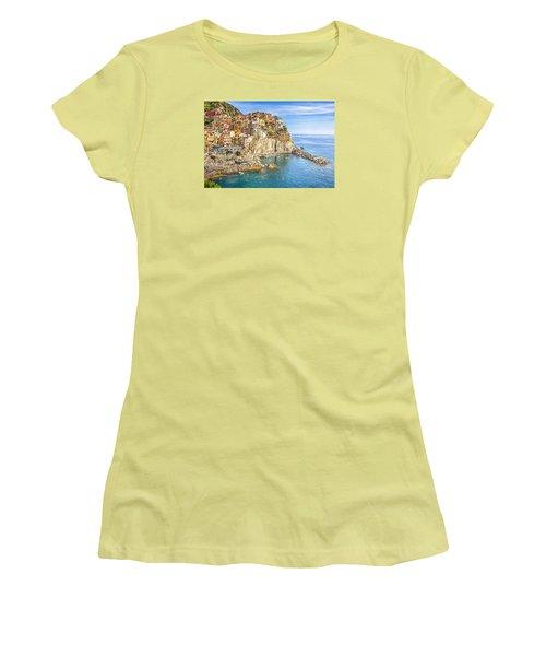 Cinque Terre Women's T-Shirt (Junior Cut) by Brent Durken