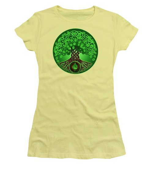 Circle Celtic Tree Of Life Women's T-Shirt (Junior Cut) by Kristen Fox