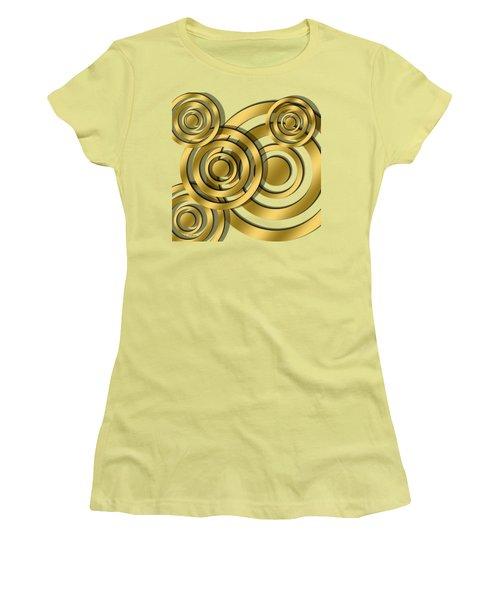 Women's T-Shirt (Junior Cut) featuring the digital art Circles - Chuck Staley Design by Chuck Staley