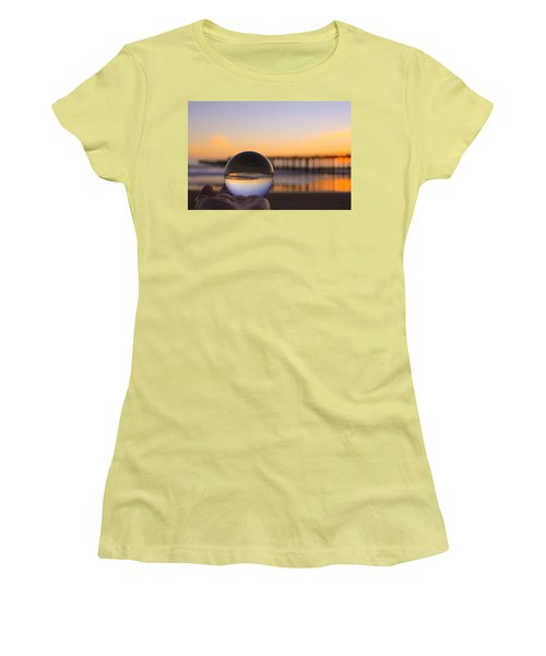Women's T-Shirt (Athletic Fit) featuring the photograph Circles by Lora Lee Chapman