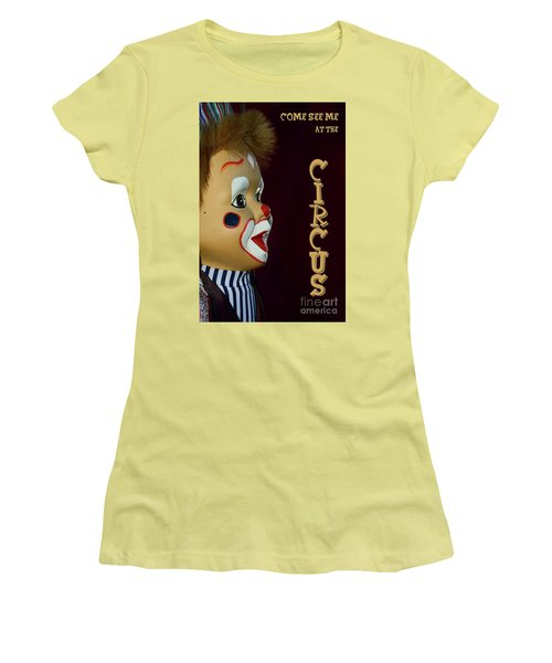 Women's T-Shirt (Athletic Fit) featuring the photograph Circus Clown By Kaye Menner by Kaye Menner