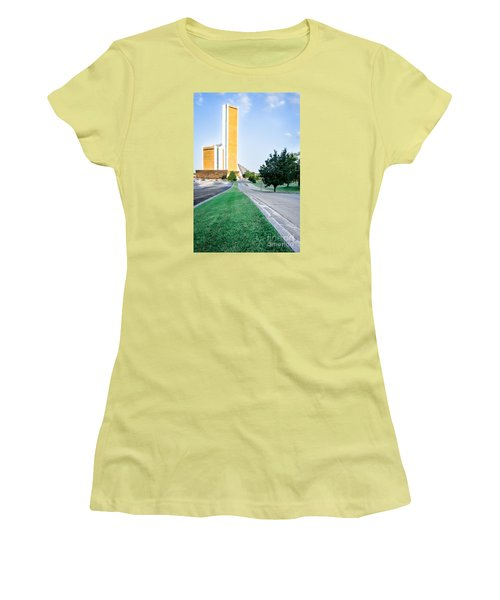 Women's T-Shirt (Junior Cut) featuring the photograph Citiplex Towers by Lawrence Burry