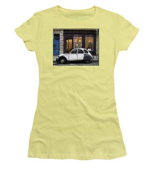 Citroen 2cv Women's T-Shirt (Junior Cut) by Jim Mathis