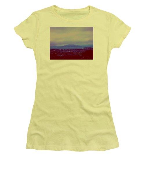 Women's T-Shirt (Junior Cut) featuring the digital art City Of Dream by Dr Loifer Vladimir