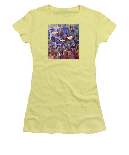 City Scape 1 Women's T-Shirt (Junior Cut) by Ronex Ahimbisibwe