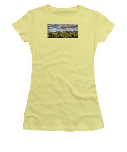 City Skyline Women's T-Shirt (Junior Cut) by Everet Regal