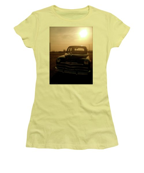 Classic America, Eight Women's T-Shirt (Junior Cut) by Iconic Images Art Gallery David Pucciarelli