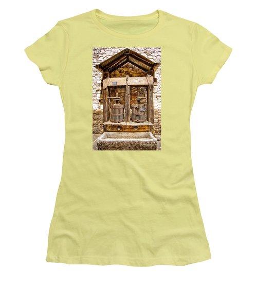 Women's T-Shirt (Junior Cut) featuring the photograph Classic Grape Press by Jason Abando
