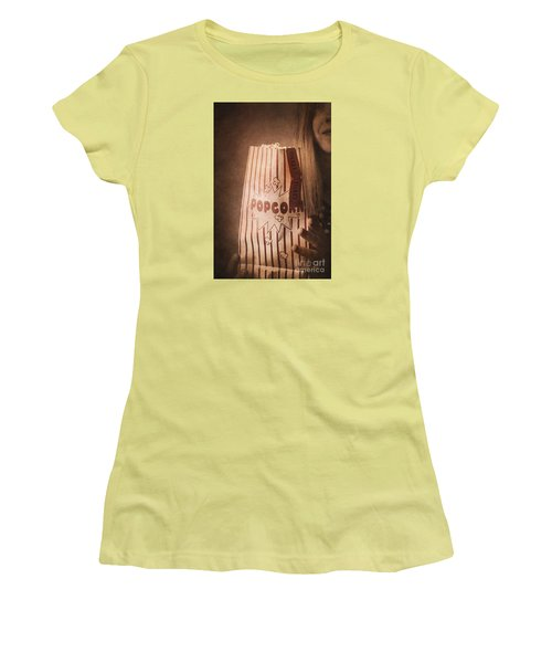 Women's T-Shirt (Athletic Fit) featuring the photograph Classic Hollywood Flicks by Jorgo Photography - Wall Art Gallery