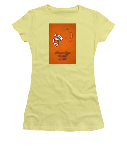 Clemson Tigers Helmet Women's T-Shirt (Athletic Fit)