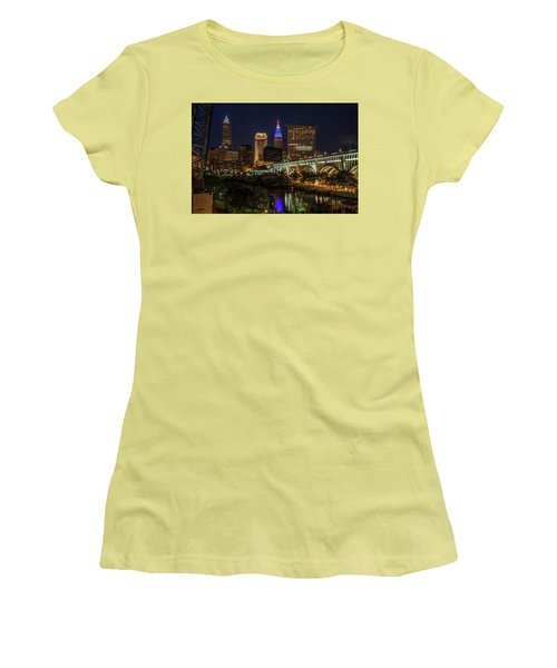 Cleveland Nightscape Women's T-Shirt (Athletic Fit)