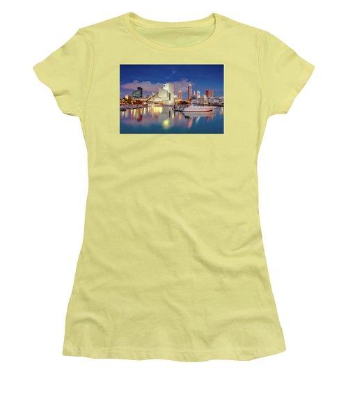 Women's T-Shirt (Junior Cut) featuring the photograph Cleveland Ohio 2  by Emmanuel Panagiotakis