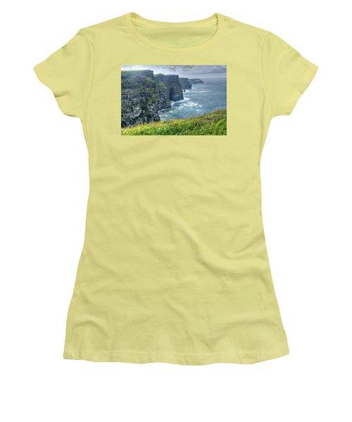 Women's T-Shirt (Junior Cut) featuring the photograph Cliffs Of Moher by Alan Toepfer