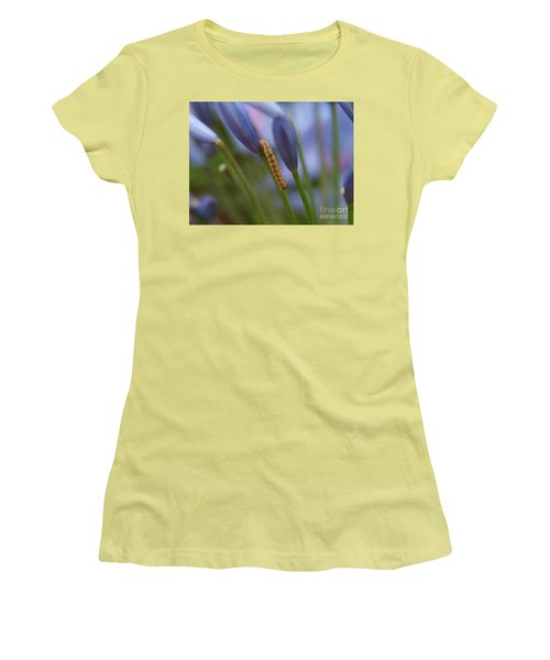 Climbing Caterpillar Women's T-Shirt (Athletic Fit)