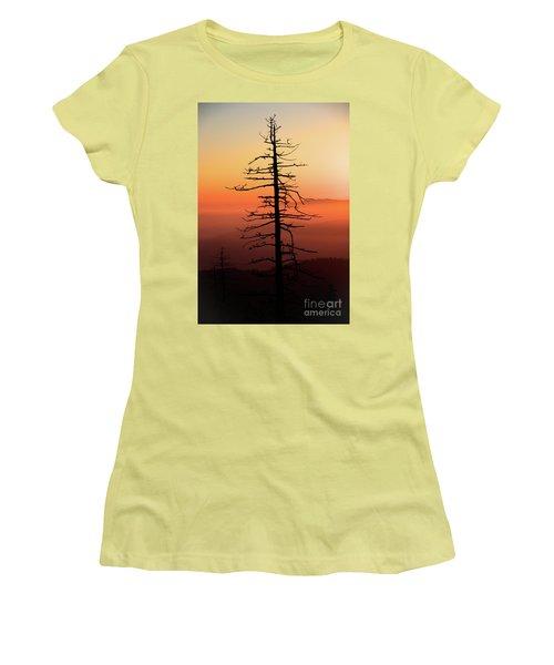 Women's T-Shirt (Junior Cut) featuring the photograph Clingman's Dome Sunrise by Douglas Stucky