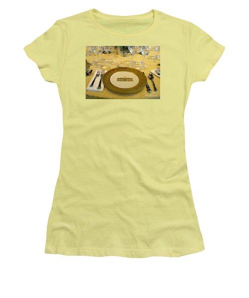 Clinton State Dinner 2 Women's T-Shirt (Junior Cut) by Randall Weidner