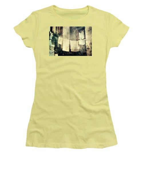 Clothes Hanging Women's T-Shirt (Junior Cut) by Vittorio Chiampan