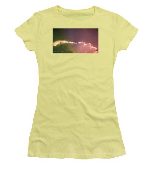 Cloud Eruption Women's T-Shirt (Junior Cut) by Stefanie Silva