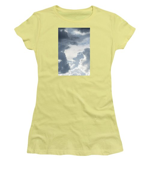 Cloud Painting Women's T-Shirt (Junior Cut) by Laura Pratt