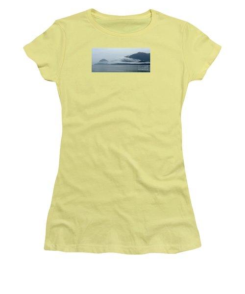 Cloud-wreathed Coastline Inside Passage Alaska Women's T-Shirt (Athletic Fit)