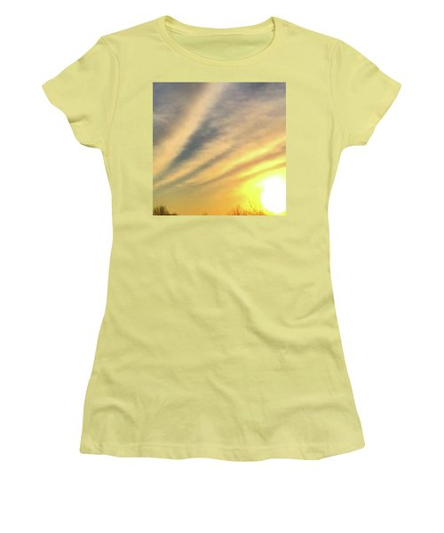 Clouds And Sun Women's T-Shirt (Junior Cut) by Sumoflam Photography