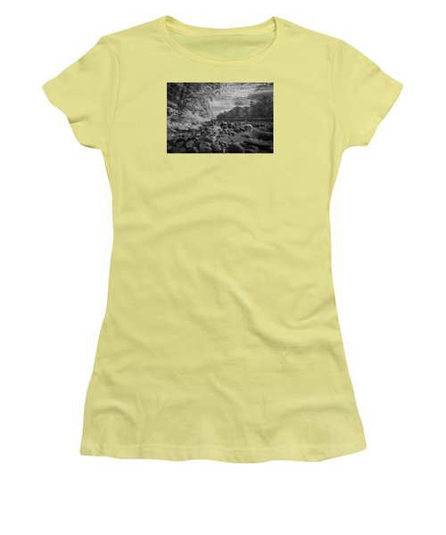 Clouds Over The River Rocks Women's T-Shirt (Athletic Fit)